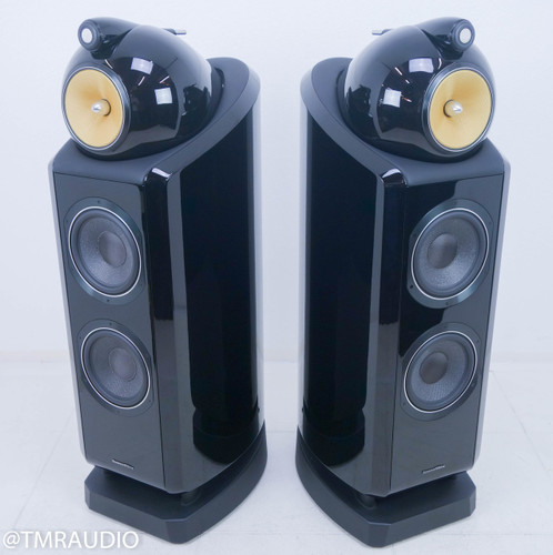 B&W 802D2 Floorstanding Speakers; Piano Black Pair
