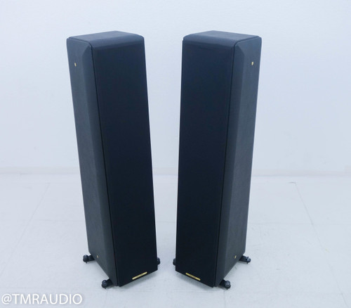 Sonus Faber Toy Tower Floorstanding Speakers; Classic Black Leather Pair