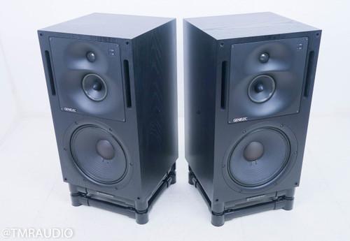 Genelec 1037B Active Monitor Speakers; Black Pair; IsoAcoustics Stands