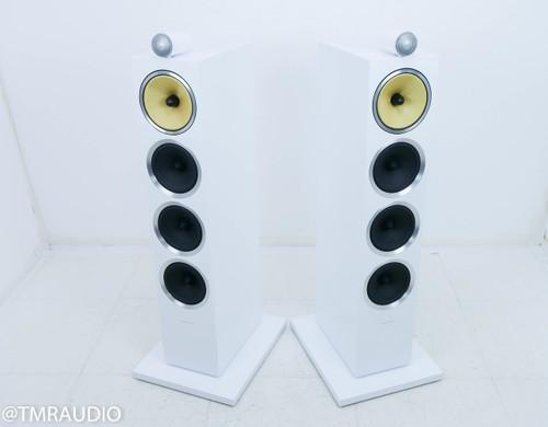B&W CM10 S2 Floorstanding Speakers; White Pair
