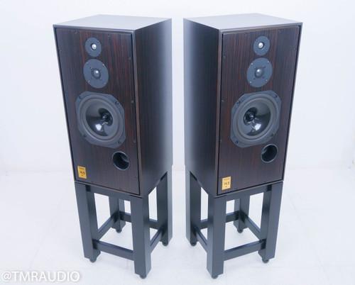 Harbeth Super HL5 Plus Monitors; Tiger Ebony Pair w/ Resonant Woods Stands