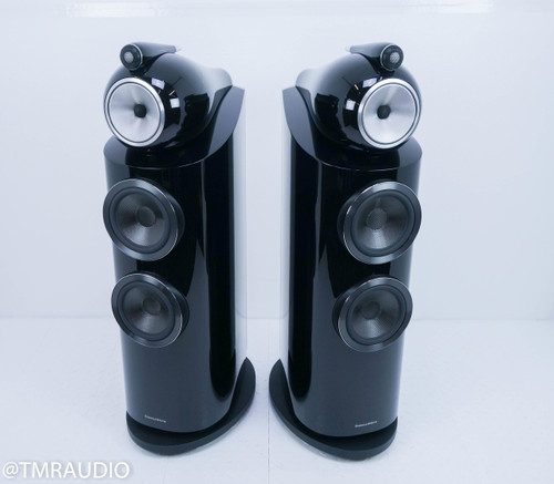 B&W 802 D3 Floorstanding Speakers; Black Pair; 802D3