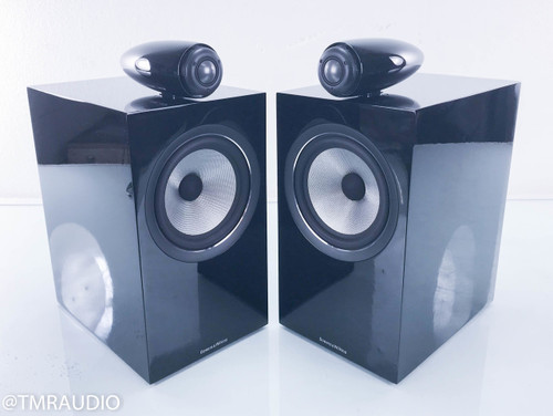 B&W 705 S2 Bookshelf Speakers; Gloss Black Pair