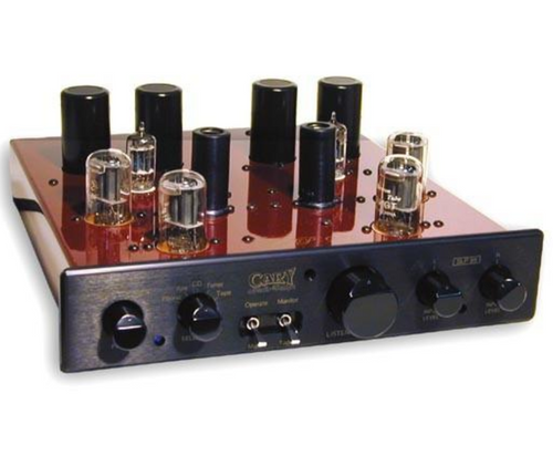Cary SLP-98P Stereo Tube Preamplifier; Cardas Caps; Hexfreds; Jaguar Red w/ Black Face (New)
