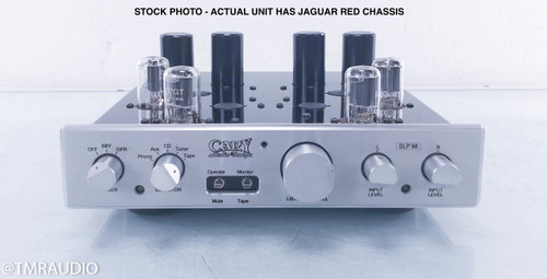 Cary SLP-98P Stereo Tube Preamplifier w/ Phono; Jaguar Carnival Red w/ Silver Faceplate (New)
