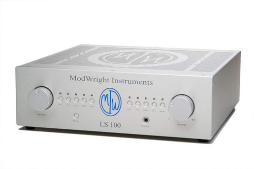 Modwright LS100 Stereo Tube Preamplifier; MM / MC Phono; Silver (New)
