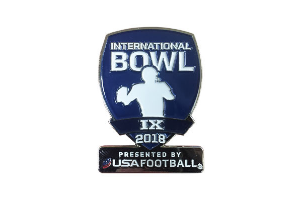 USA Football International Bowl Pin
