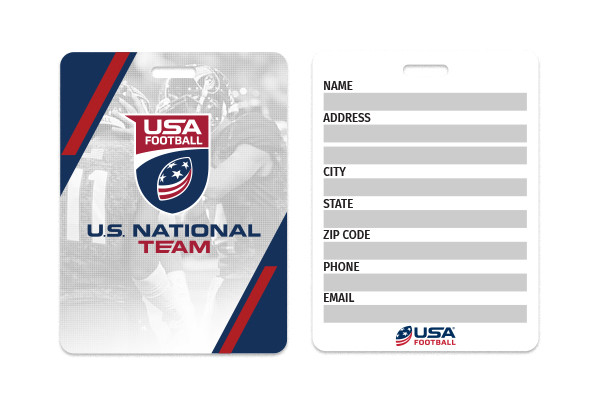 USA Football Team Luggage Tag