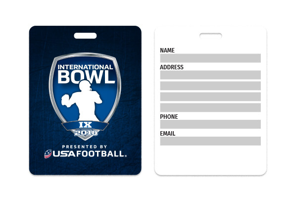 USA Football International Bowl Luggage Tag