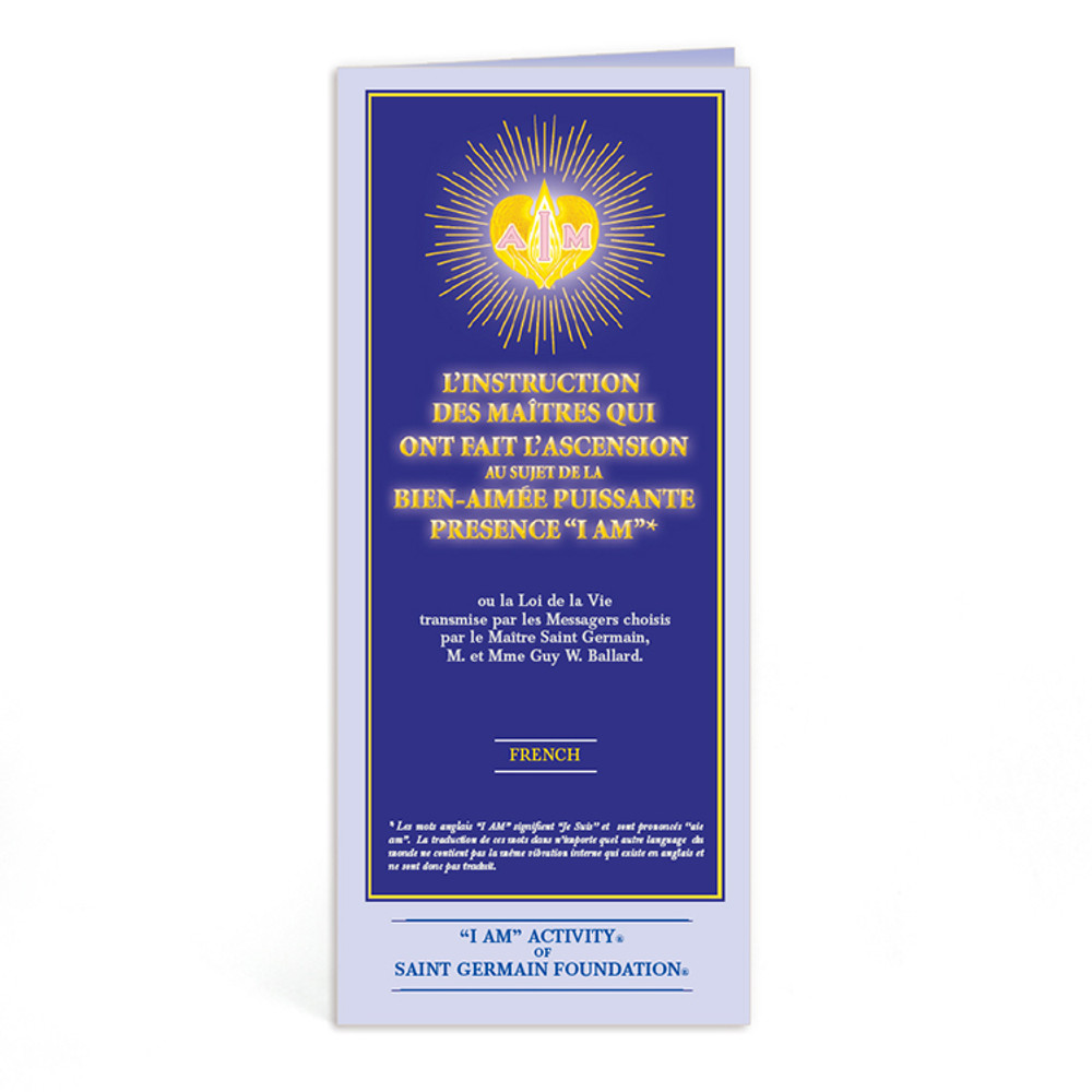 Ascended Master Instruction French - 10 pk