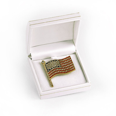 American Flag - Jeweled Pin