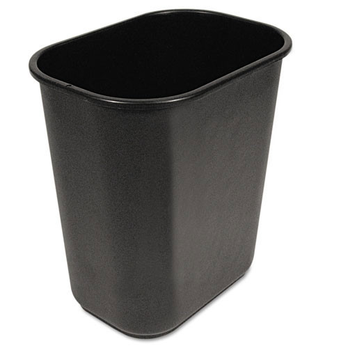 Boardwalk BWK28QTWBBLA trash can wastebasket 28 quart or 7 gallon soft sided plastic rectangle black