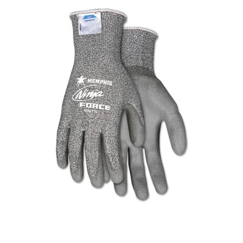 Dyneema nylon Ninja Force safety gloves 13 gauge cut resistant level 3 one pair of gloves size large replaces Mcrn9677l Crews Glasses CRWN9677L