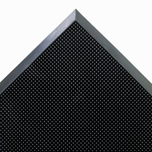 Door mat outdoor indoor scraper mat mat a dor scraper mats rubber fingertip mat 24x32 inch black color replaces cromasr42bla Crown cwnmasr42bk