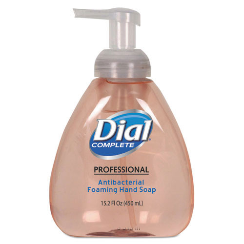 Dial Complete antibacterial foaming hand wash hospital strength 15.2oz pump bottle case of 4 Dia98606