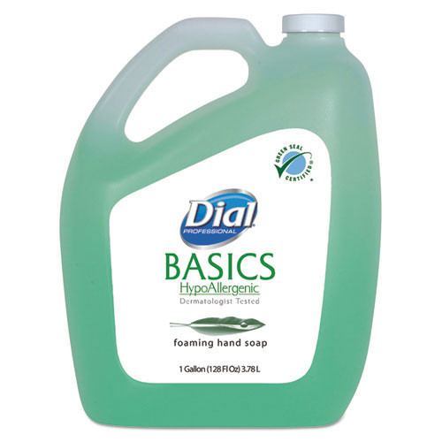 Dial Basics foaming lotion soap with aloe hypoallergenic 1 gallon bottle case of 4 Dia98612CT