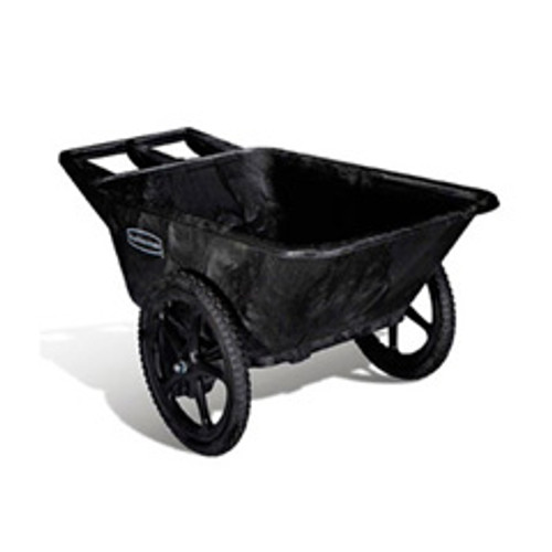 Rubbermaid 5642bla big wheel cart wheel barrow 7.5 cubic feet 300 lbs. black