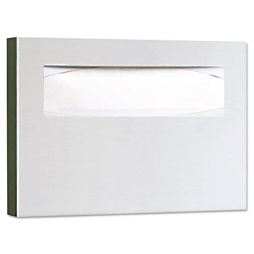 Bobrick bob221 toilet seat covers dispenser surface mounted classic series satin finish stainless steel 15.75wx2dx11h