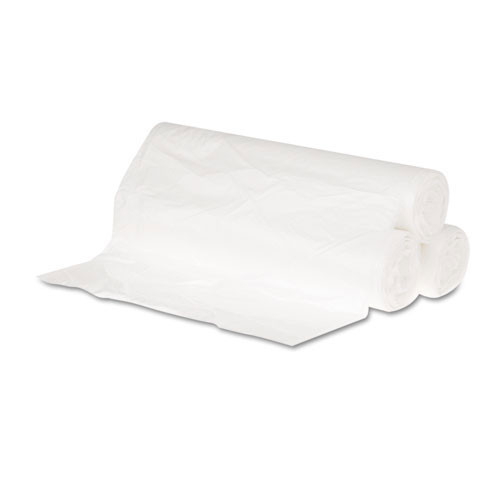 10 gallon trash bags case of 1000 24x23 high density 6 mic eqv regular strength natural gen242306