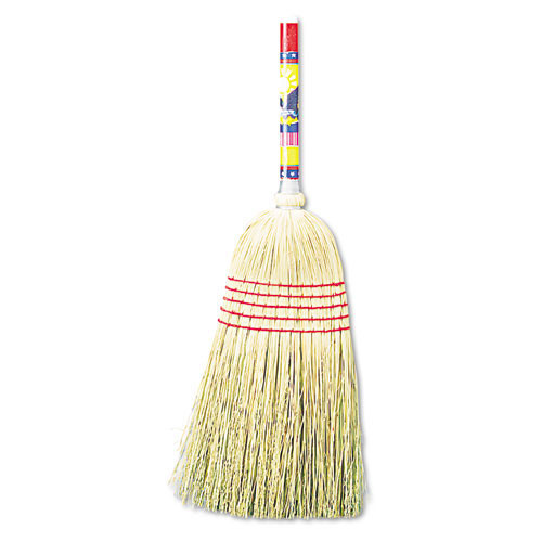 Boardwalk BWK920YCT upright maid broom mixed fiber wood handle 42 inches 12 brooms replaces UNS926C
