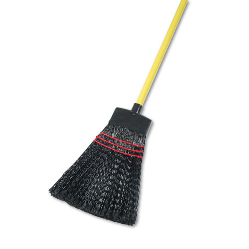 Boardwalk BWK916P upright maid broom plastic bristles wood handle 42 inches 12 brooms