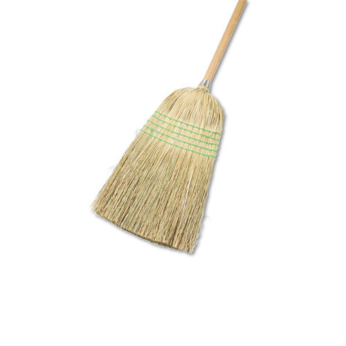 Boardwalk BWK926YCT corn broom wood handle parlor mixed fiber 12 brooms replaces UNS932A