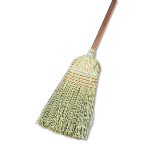 Boardwalk BWK932YCT warehouse broom wood handle mixed fiber wood handle 12 brooms replaces UNS951T