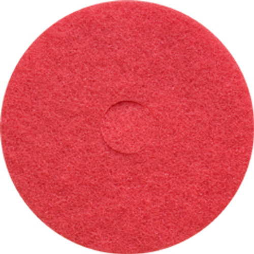 Red Floor Pads Clean and Buff 20 inch standard speed up to 800 rpm case of 5 pads by Cleaning Stuff 20RED GW