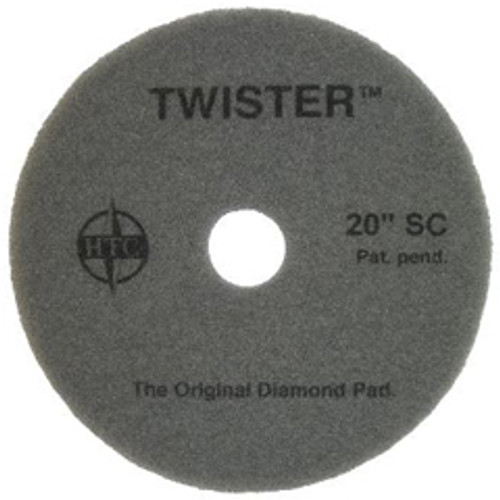 Twister Superclean Floor Pads 17 inch for daily cleaning on all coated floors removes dirt from coated floors with just water case of 2 pads 434817