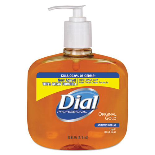 Dial DIA80790CT antimicrobial handsoap 16oz pump bottle case of 12