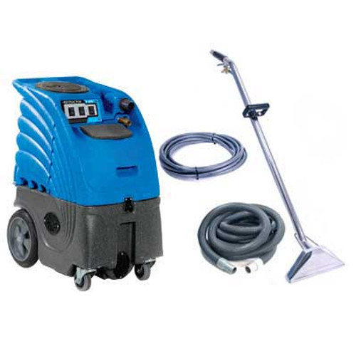 Carpet extractor with heater 6 gallon canister adjustable 300psi pump dual 3 stage vac motors 25 foot hose kit dual jet stainless steel wand Cleaning Stuff 6gh300p3v25