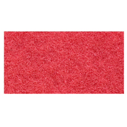 Red Floor Pads Clean and Buff 14x28 inch rectangle standard speed up to 800 rpm case of 5 pads by Cleaning Stuff 1428RED GW