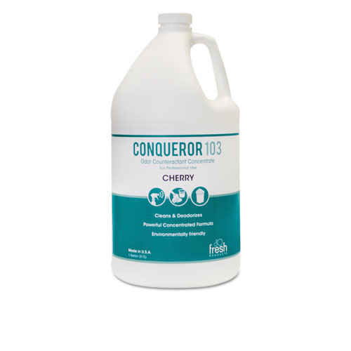 Fresh frs1232wbch conqueror 103 liquid deodorizer cherry 32oz size 2 trigger sprayers in case of 12 bottles
