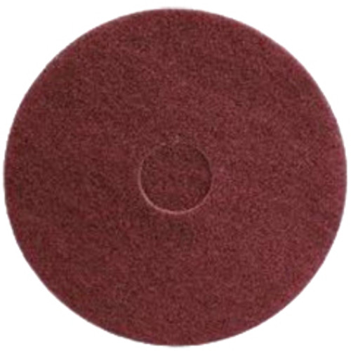 Maroon Strip Floor Pads 13 inch standard speed up to 350 rpm chemical free wet or dry strip case of 10 pads by Cleaning Stuff 13MAROON GW