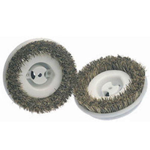 Koblenz 4502324 6 inch polishing brushes metal hub 8 notch for P4000 Koblenz shampoo polisher Floor scrubber machines set of 2 brushes
