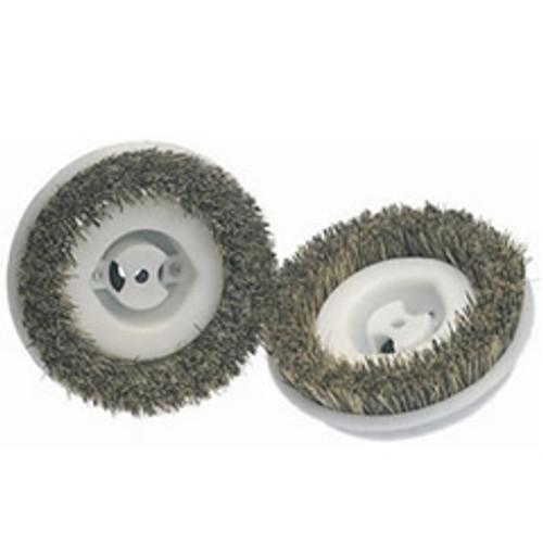 Koblenz 4501342 6 inch scrub brushes plastic hub for most Koblenz shampoo polisher Floor scrubber machines set of 2 brushes