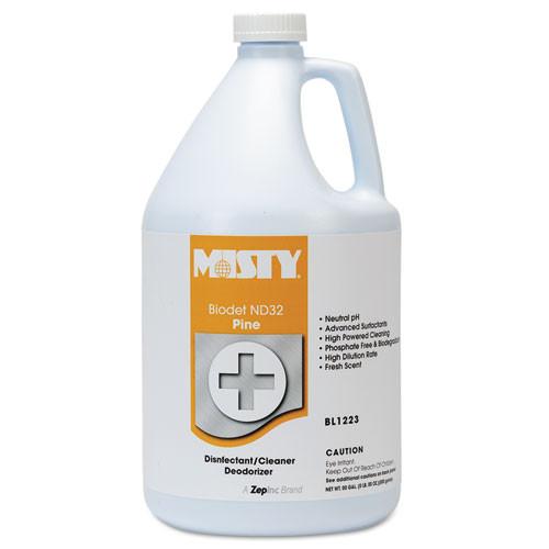 Misty biodet nd32 liquid disinfectant deodorizer multipurpose cleaner neutral ph pine scent gallon bottles case of 4 replaces  AMRR12234 amrep AMR1038809