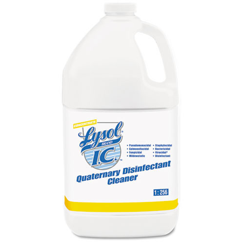 Lysolic quaternary liquid disinfectant deodorizer cleaner one gallon bottles case of 4 replaces rec74983 rac74983ct