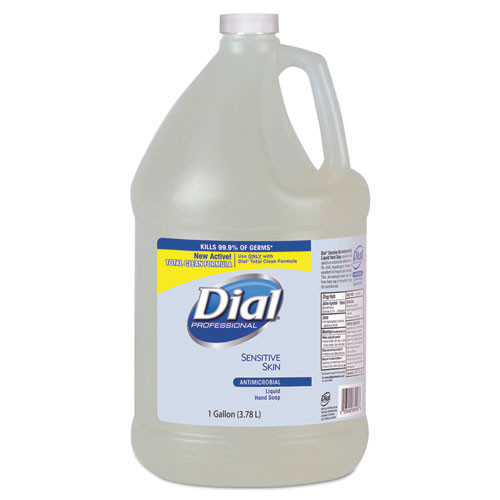 Dial Sensitive Skin antimicrobial handsoap one gallon bottle refills case of 4 bottles Dia82838