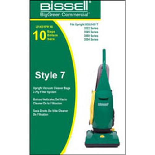 10 Bissell U1451PK10 vacuum bags for BGU1451T pack of 10 bags