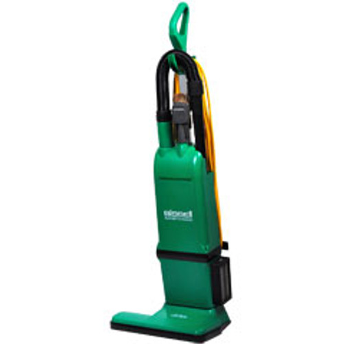 Bissell commercial vacuum BG1000 15 inch upright dual motor with on board tools uses disposable bags
