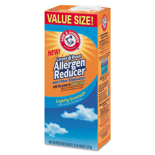 Carpet and Room Allergen Reducer and Odor Eliminator CDC3320084113CT lightly scented 42.6oz shaker box case of 9 boxes replaces cdc20015630 Arm and Hammer
