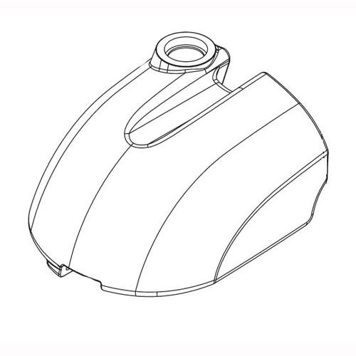Betco E2049000 solution tank red for Genie CE auto scrubber