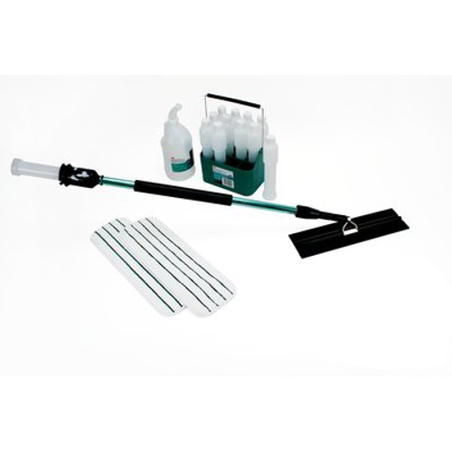 3M 59194 Easy Scrub Express Starter Kit includes flat mop tool 12 bottles caddy two 18 inch flat mops half gallon jug training dvd gw