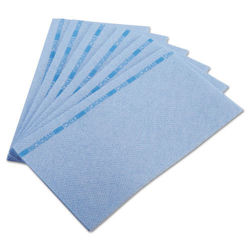 Chix foodservice towels with microban Chicopee blue 13x24 case of 150 Chi8251