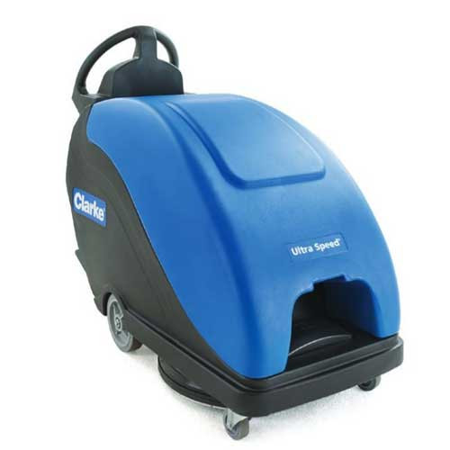 Clarke Ultra Speed 20 56383525 battery powered burnisher 20 inch with dust control pad assist 234ah maintenance free gel battery on board charger