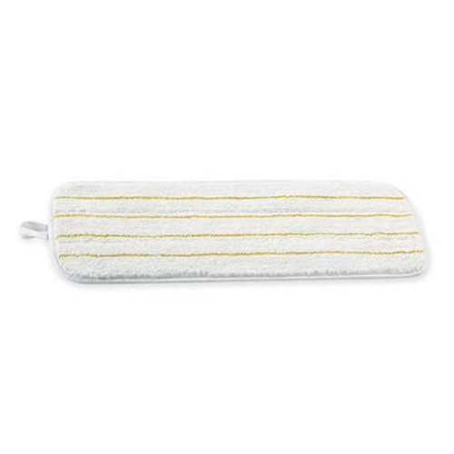 3M 55434 Scotchgard Easy Shine Applicator Pads white with yellow stripes 18 inch to apply floor finish coatings case of 10 pads gw