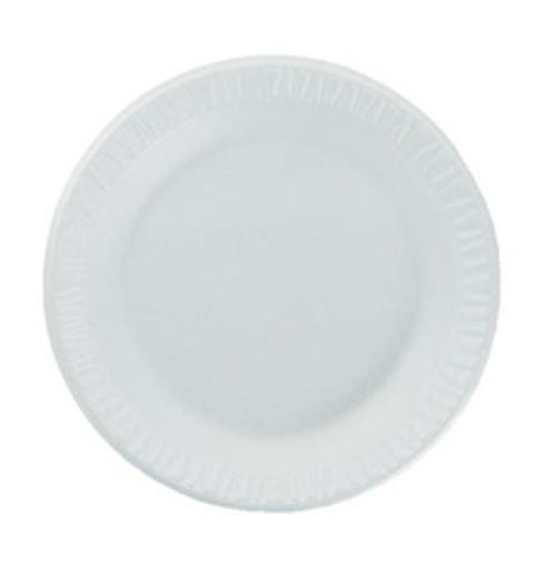 Dart foam dinner plates 10.25 inch unlaminated case of 500 Dart Dcc10PWCR