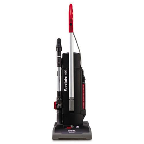 Sanitaire eursc9180b quiet clean 2 motor upright vacuum, red
