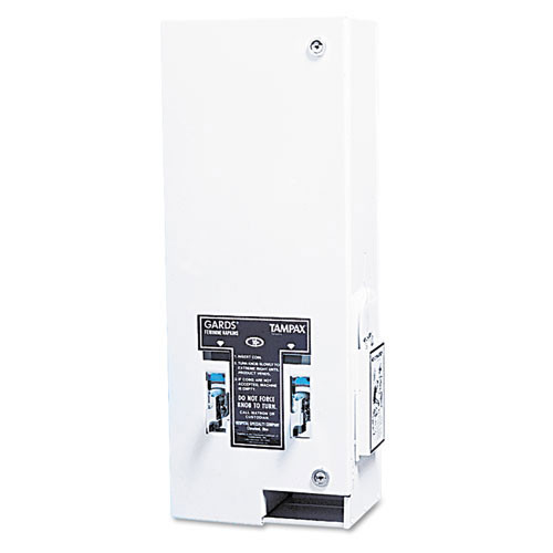 Hospeco hos125 sanitary napkin tampon dispenser, coin, metal, 10 x 6 .5 x 26 1 4, white